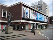 SO8554 : Elgar's statue and Lychgate Shopping Centre by Philip Halling