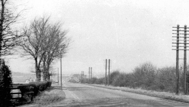 Great North Road, south of Biggleswade, 1956