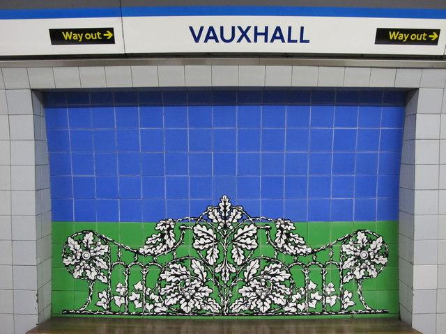 Vauxhall tube station - ceramic tiles