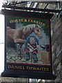 SD4761 : Sign for the Horse and Farrier, Brock Street, Lancaster by Karl and Ali