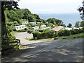 SX5646 : Stoke Beach caravan park by David Smith