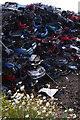 NY3857 : Stack of scrap cars by Ian Taylor