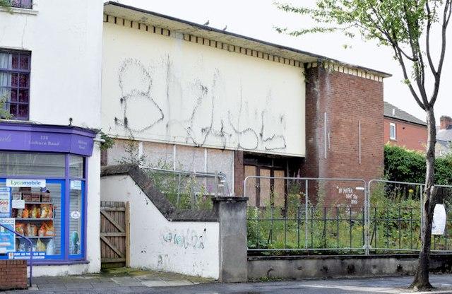 Former St Thomas' church hall, Belfast (July 2015)