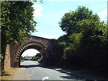 TM0932 : Bridge across Station Road, Manningtree by Malc McDonald
