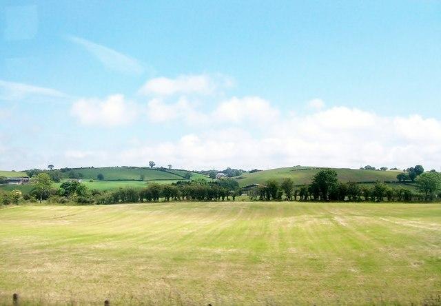 Harvested hay field near Boardmills.