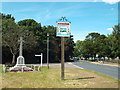 TM1131 : Mistley village sign and war memorial by Malc McDonald