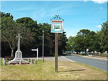 TM1131 : Mistley village sign and war memorial by Malc McDonald