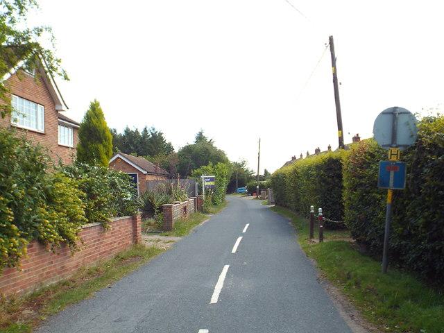 Dairyhouse Lane, Bradfield Heath
