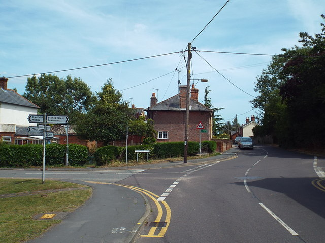 Road junction at Wix