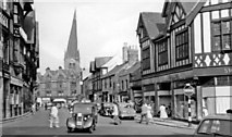 SK3871 : Chesterfield: Burlington Street to the 'Crooked Spire' of St Mary & All Saints, 1957 by Ben Brooksbank