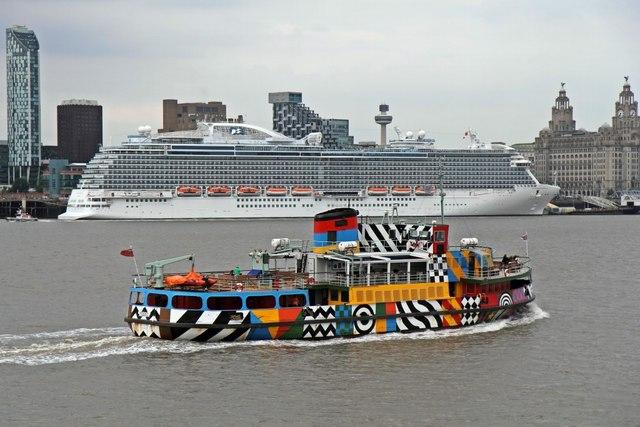 MV Snowdrop and Royal Princess, River Mersey