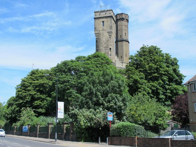Two towers of The Castle, Green Lanes, N4