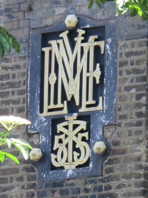 Mylne monogram on The Castle, Green Lanes, N4