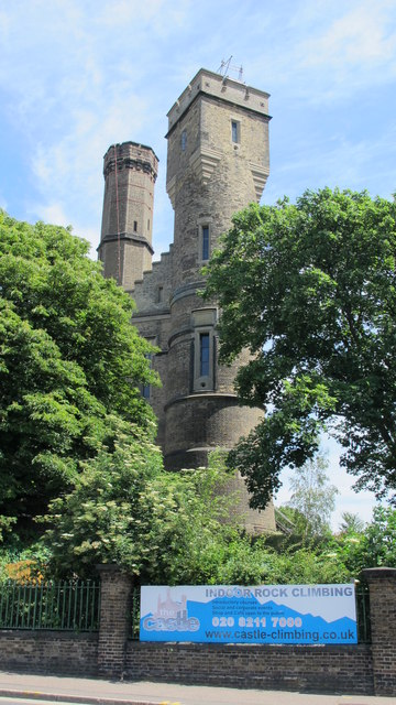 Two towers of The Castle, Green Lanes, N4 (2)