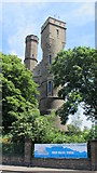 TQ3286 : Two towers of The Castle, Green Lanes, N4 (2) by Mike Quinn