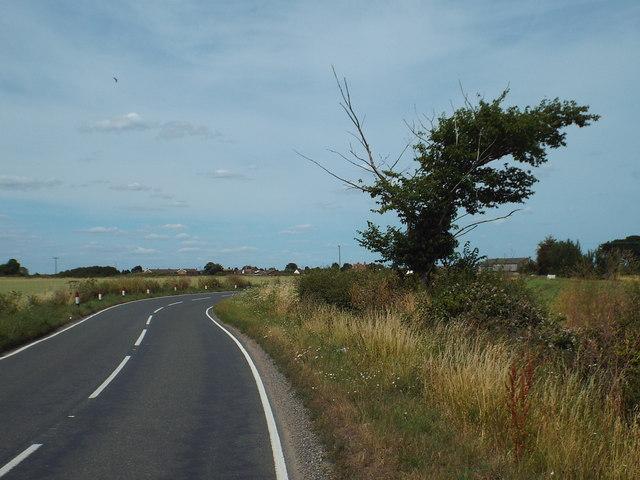 Clacton Road near Little Oakley