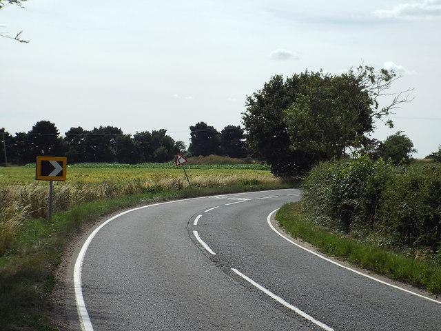 B1414 Harwich Road, near Great Oakley