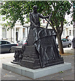 TQ2978 : Cubitt statue. Denbigh Street by Stephen Richards