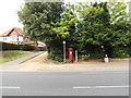 TM2836 : Almshouses George V Postbox by Adrian Cable