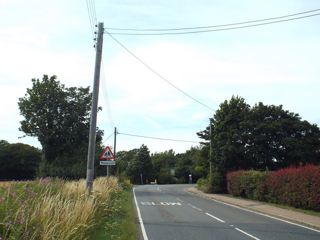 B1414 Harwich Road at Beaumont