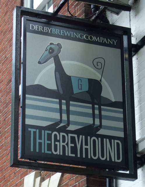 Sign for the Greyhound