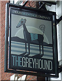 SK3436 : Sign for the Greyhound by JThomas