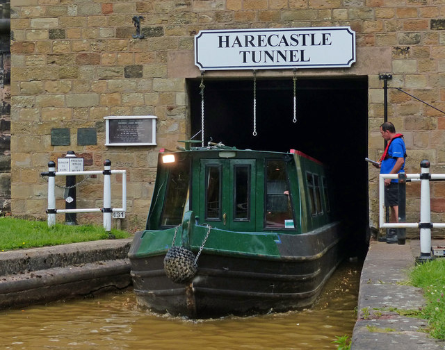 The southern portal of Harecastle Tunnel