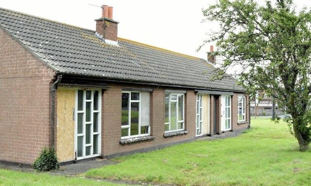 Vacant social housing, Bangor (July 2015)