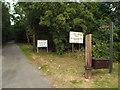 TM1521 : Private drive, public footpath, Weeley Heath by Malc McDonald