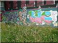 SE0922 : A new exhibit at the Salterhebble graffiti art gallery - 3 by Humphrey Bolton