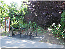 SJ6855 : Queen's Park: cycle parking by Stephen Craven