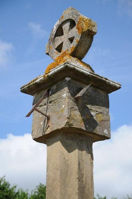 Sundial at Tedstone Delamere church