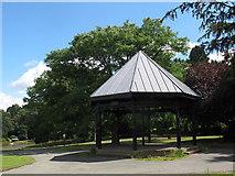 SJ6855 : Queen's Park: Charles Dick memorial shelter by Stephen Craven