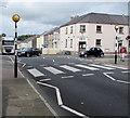 SM9603 : Zebra crossing, Laws Street, Pembroke Dock  by Jaggery