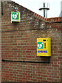 TM2844 : Defibrillator at The Maybush Inn Public House by Adrian Cable