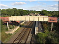 SP3519 : Footbridge at Charlbury Railway Station by Gareth James