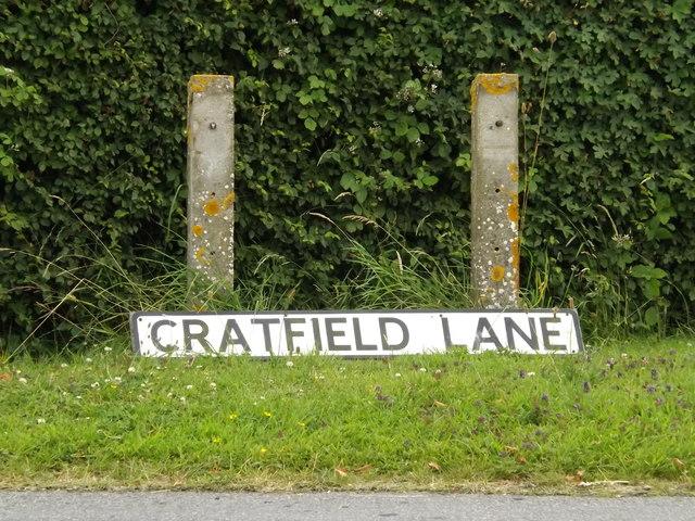 Cratfield Lane sign