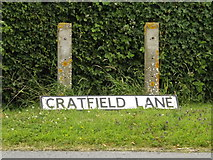 TM3173 : Cratfield Lane sign by Adrian Cable