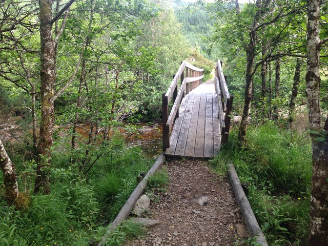 Footbridge over Strontian River