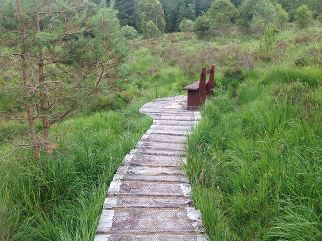 Board walk and bench, Ariundle
