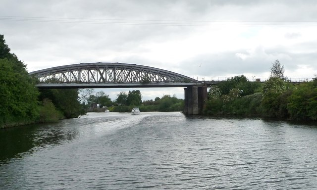 The 'Iron Bridge' over the River Aire