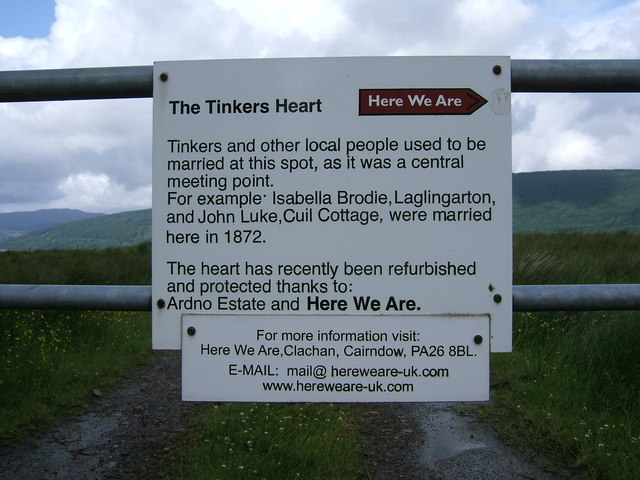 The 'Tinkers Heart' on the A815