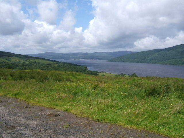 Inveraray seen from the Tinkers Heart, A815