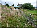 SE0222 : Fence across Sowerby Bridge FP112 (Link B) by Humphrey Bolton