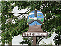 TF9532 : Little Snoring village sign (detail) by Adrian S Pye