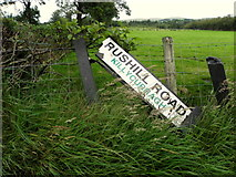 H5173 : Another road sign hits the dust, Killycurragh by Kenneth  Allen