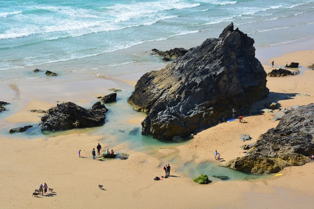 Rocks at Red Cove at the Bedruthan Steps, Cornwall