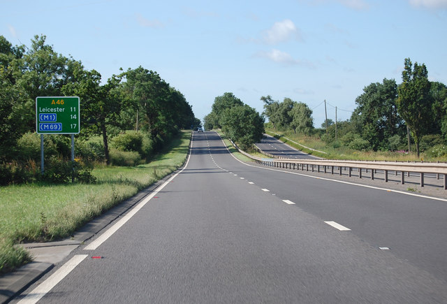 A46 11 miles to Leicester