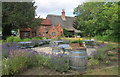 SP6308 : Herb Garden at The Clifden Arms by Des Blenkinsopp
