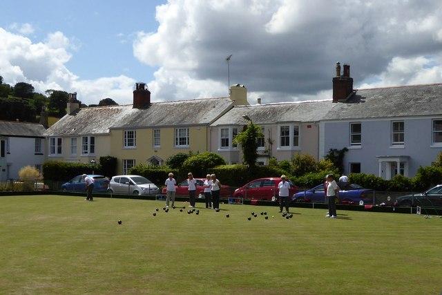 Bowling green in Shaldon